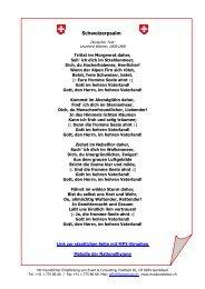 Text der Schweizer Nationalhymne (PDF) - Event & Consulting