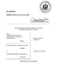 05-07032 Hamilton et al v. Washington Mutual ... - District of Kansas