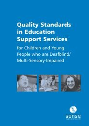 Quality Standards in Education Support Services for ... - Sense