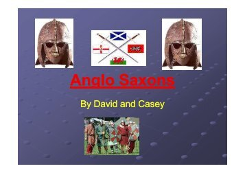 Anglo Saxons g - Gusford Primary School