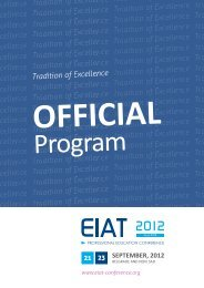 Official Program - EIAT Conference