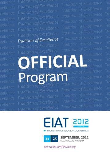 Official Program - EIAT Conference