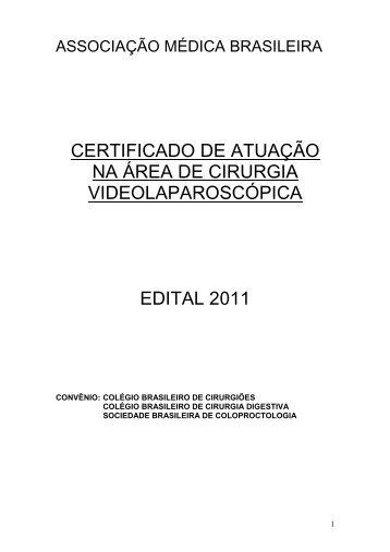 Edital Video_21agosto2011 - Colégio Brasileiro de Cirurgia Digestiva