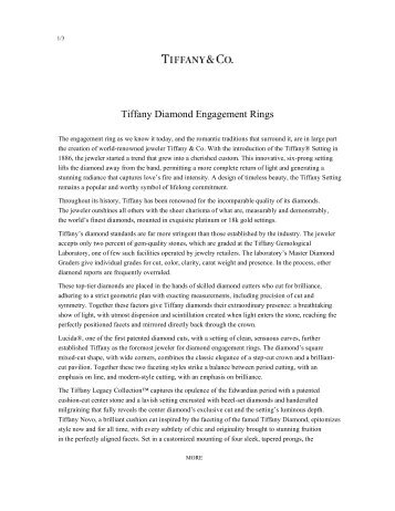 Download PDF (135 KB) - Tiffany & Co. For The Press