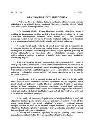 PL. ÚS 12/01 č. 1/2007 O UMELOM PRERUŠENÍ TEHOTENSTVA 1 ...