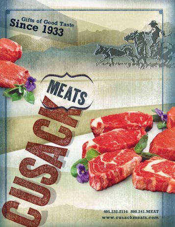 Printable Catalog - Cusack Meats