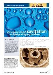cavitation - Grundfos E-Newsletter