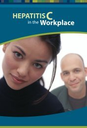 HEPATITIS Workplace - BC Centre for Disease Control