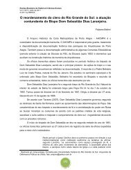 O reordenamento do clero do Rio Grande do Sul - Revista Brasileira ...