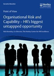 Organisational Risk and Capability - Henley Business School
