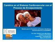 Cambios en el Sistema Cardiovascular con el Proceso de ...