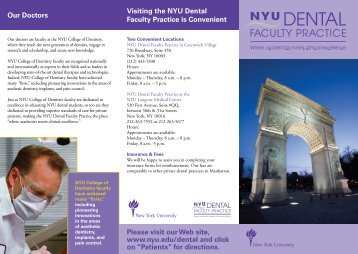 Our Doctors Visiting the NYU Dental Faculty Practice is Convenient ...