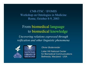 From biomedical language to biomedical knowledge