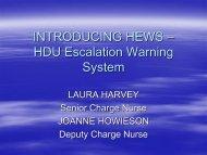 Developing a scoring system for medical HDU-HEWS