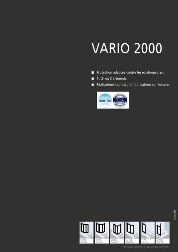 la collection 2013 - vario - Roth France