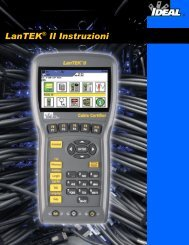 LanTEK® II Instruzioni