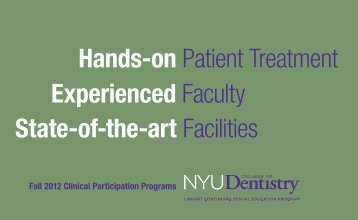 Hands-on Patient Treatment Experienced Faculty State-of-the-art ...