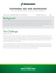 customers are our inspiration - Straumann