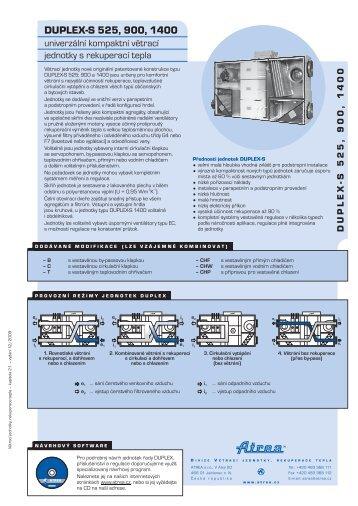 DUPLEX-S 525, 900, 1400 - ATREA sro