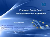 EX-POST EVALUATION of the ESF (2000-2006) - ES fondi