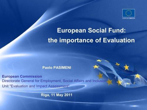 EX-POST EVALUATION of the ESF (2000-2006) - ES fondi