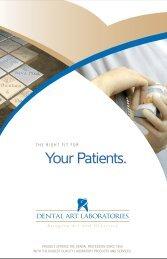 Testimonial Brochure - Dental Art Laboratories