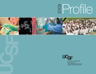Profile 2009 - Support UCSF - University of California, San Francisco