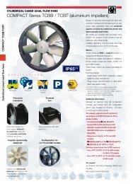 COMPACT Series TCBB / TCBT (aluminium impellers) - Soler & Palau