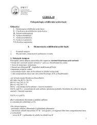 FIZIOPATOLOGIA ECHILIBRULUI ACIDO-BAZIC - Fiziopatologie