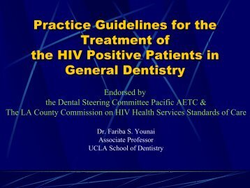 Practice Guidelines For The Treatment Of The HIV - Department of ...