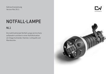 Gebrauchsanweisung Notfall-Lampe - Shop - CAREWARE