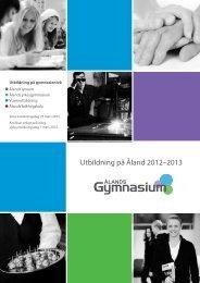 Utbildning på Åland 2012–2013 - Ålands Gymnasium