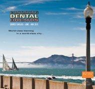 course catalog • june - nov 2011 - Arthur A. Dugoni School of ...
