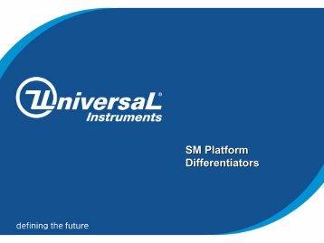 SM Platform Differentiators SM Platform Differentiators