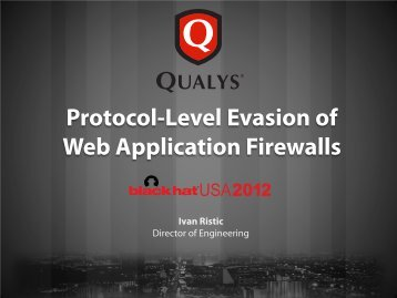 Protocol-Level Evasion of Web Application Firewalls - Hakim