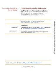 Communication among Oral Bacteria - Microbiology and Molecular ...