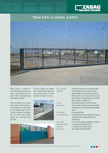telescopic tracked sliding gates