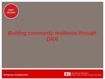 Building community resilience through DRR