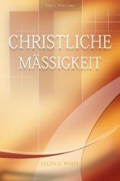 Christliche Mäßigkeit (1911) - Jesus Christus