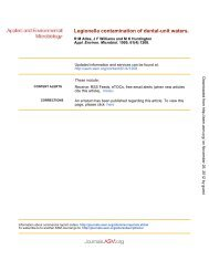 Legionella Contamination of Dental-Unit Waters - Applied and ...