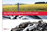 Delivering SUSTAinABle OPPOrTUniTieS - OneSteel