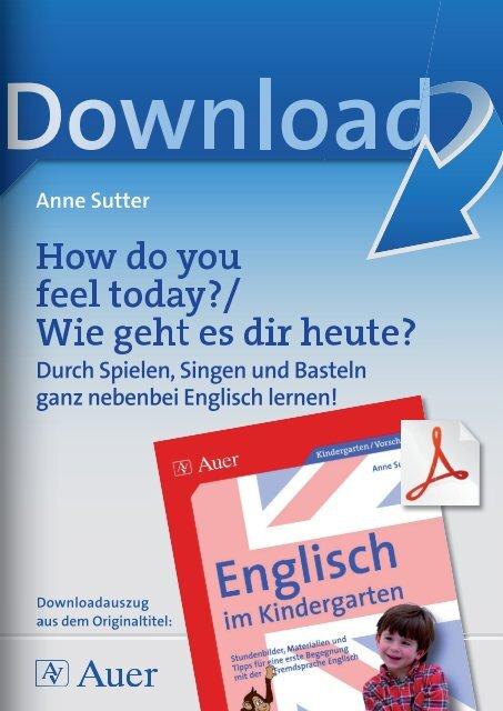 Wie geht es dir heute englisch