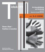 idskrift nr 2–3 2006 - Lärarutbildning - Umeå universitet