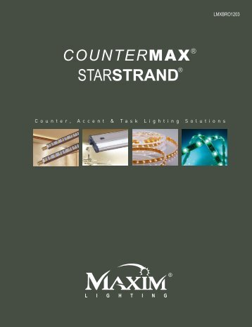 Maxim Lighting CounterMax and StarStrand Brochure