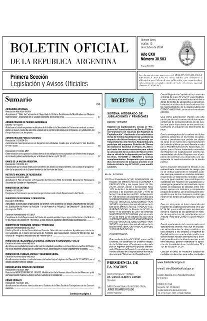 BOLETIN OFICIAL - Honorable Cámara de Diputados de la Nación