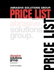 View ASG Price List (PDF - 1.3M) - Abrasive Solutions Group ...