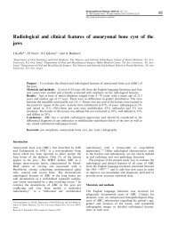 Radiological and clinical features of aneurysmal bone cyst of the jaws