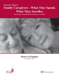 Family Caregivers – What They Spend, What They Sacrifice