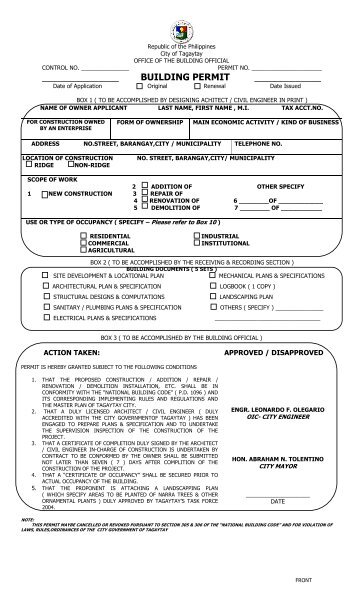 Commercial Building Permit Application Form