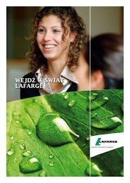 Dowiedz się więcej z broszury - Wejdź w świat Lafarge